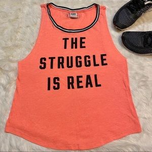 PINK Victoria's Secret The Struggle Is Real Tank